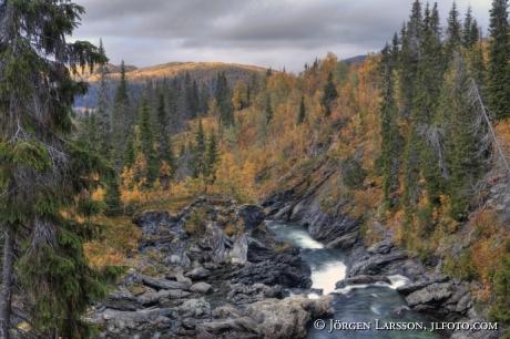 Gaustafallet Vildmarksvägen Jämtland Sverige