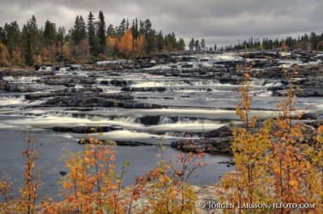 Trappstegsforsen Saxnas Lappland Sweden